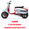SCOMADI TL125 Air Cooled Scooter Engine Parts Complete Scooter Spare Parts Original Quality