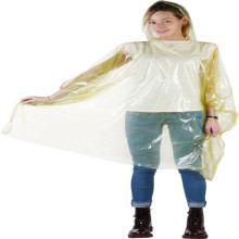 Plastic Colorful Disposable PE Disposable Poncho