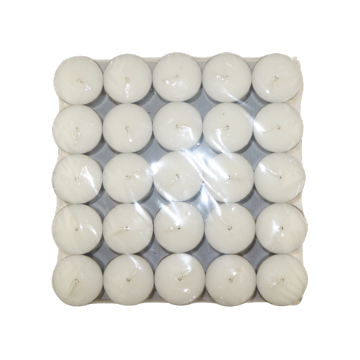 Wholesale unscented high quality white tealight candle