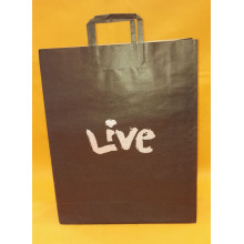 flat handle paper shopping bag
