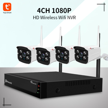 4 Channel WiFi NVR Kits 1080P