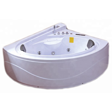 Circle Waterfall Whirlpool Bathtub for 2 Person