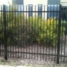 China Factory Wrought Iron Fence zinc steel grille fencing for sale