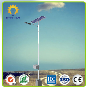 60W solar street light with mounting pole