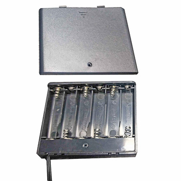 6 PIECES AA Battery Holders With Cover