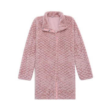 Ladies Fleece Embossed Design Jacket