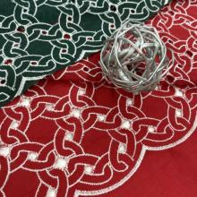 Fantastic Circle Cotton Eyelet Scallop Embroidery Fabric