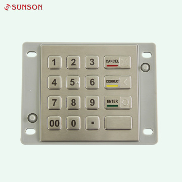 English Layout Metal Encryption Pinpad For Payment Terminal