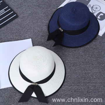 Highlight color outing paper straw hat