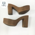 High Heel Lady Sandals sole Wholesale PU outsole