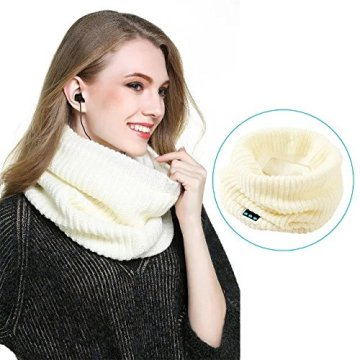 Scarf Blue tooth Warm Design Knitted Neck Earphone