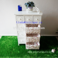 High quality hot sale wooden cabinet willow wicker basket drawer
