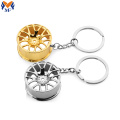 Metal Custom Car Steering Wheel Keychain