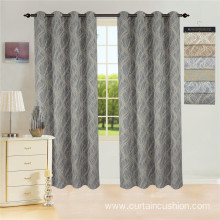 Modern Poly Ready Made Jacquard Curtain