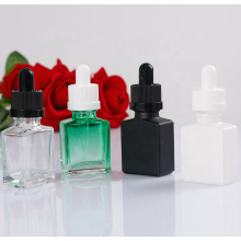 Flaconi contagocce quadrati colorati in vetro da 30 ml