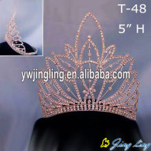 Rhinestone  Gold Glitz Pageant Crown