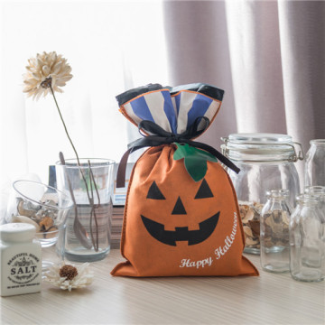 Orange Pumpkin Design Halloween Non-woven Gift Wrapping Bags