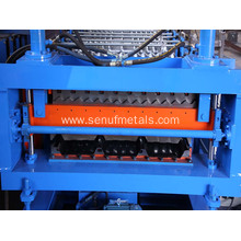 Double layer roof automatic tile roll forming machine