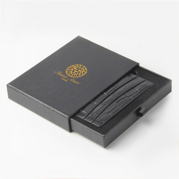 Rectangle Black Purse Packaging Paper Drawer Box