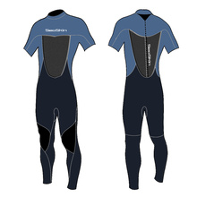 Seaskin 2mm Fine Skin Short Sleeve Spring Wetsuit