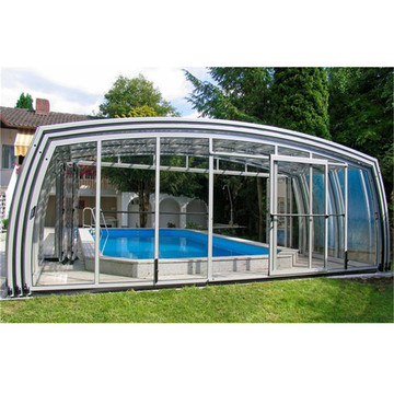 Garden Aluminium Telescopics Swimming Pool Enclosure Roof