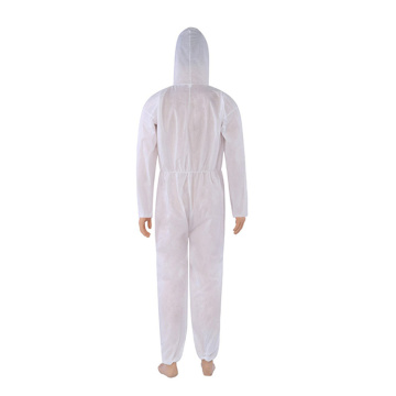 disposable coveralls with hood protective suit non woven coverall medical hospital protective suit protection anti virus