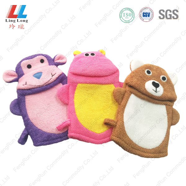 Innovative animal children bath gloves