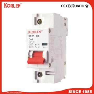 High Current 6ka Economic Mini Circuit Breaker Knb1-100