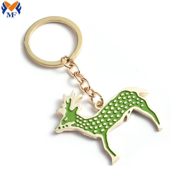 Metal cute animal personalized engraved logo keychain
