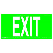 REALGLOW EXIT SIGN 75FT & 50FT DE SORTIE