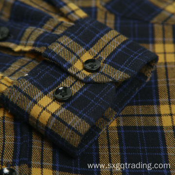 Comfortable and breathable 100% cotton flannel shirt