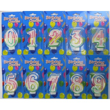 number shape birthday candle/hotsale number birthday candle