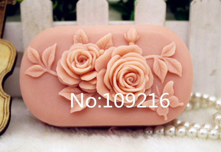 New Product!!1pcs Chinese Rose (zx339) Food Grade Silicone Handmade Soap Mold Crafts DIY Mould
