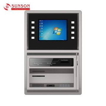 Wall-mount Bank Card Non-cash ATM with AD Player