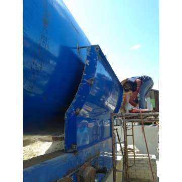 latest used tire scrap pyrolysis plant