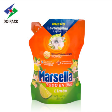 Flexible plastic packaging bag with nylon