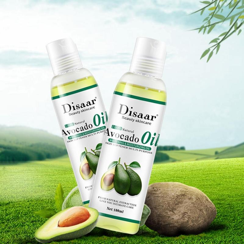 100ml Organic Massage Oil Spa Relaxing Body Oil Almond Olive Shea Skin Extract Relaxing Natural Moisturizing Argan Care Oil R1E7