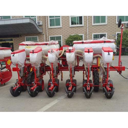 Agricultural 6 rows vacuum disc seeder with fertilizer