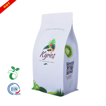 Factory price tea packaging kraft paper bag for coffee 500g