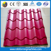 color steel glazed tile roll forming machinery