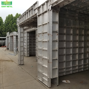 Aluminum construction formwork for concrete forms plywood
