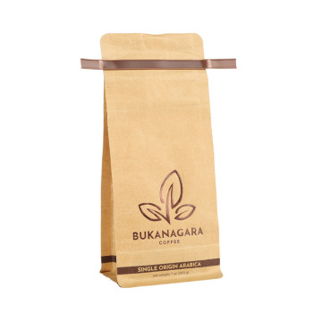 Eco-friendly compostable food grade coffee bags with tin tie