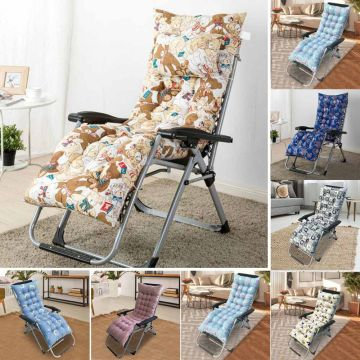 Recliner Lounger Cushion Floral Bear Print Outdoor Sun Lounger Chair Seat Cushion Garden Patio Deck Rocking Couch Thick Seat Pad