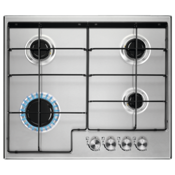 Zanussi Built-in Steel Gas Stove 4 Burner