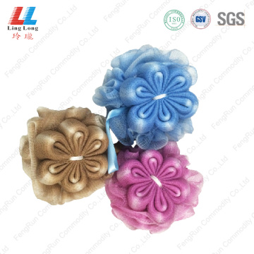 Deep color flower mix mesh sponge ball
