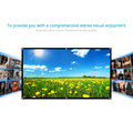 """H70 70'' Portable Projector Screen HD 16:9 White Dacron 70"""" Diagonal Projection Screen Foldable Home Theater for Wall Projection"""