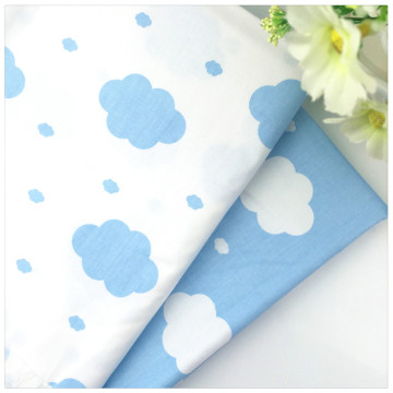 New Blue Cloud Twill 100% Cotton Fabric DIY Sewing Baby Bedding the Cloth Home Textile Material Telas Tissus to Patchwork
