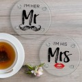 Round Customized Logo Printing Glass Coaster
