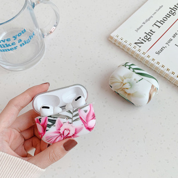 Flower Banana Leaf Bluetooth Headset case for Airpods Pro 3 fresh Luxury Soft TPU Cover for AirPods Pro Earphone Cover coque