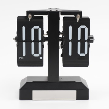 Classic Metal Flip Clock with Light for Table